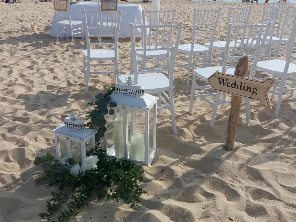 Pês na areia, praia e jardim